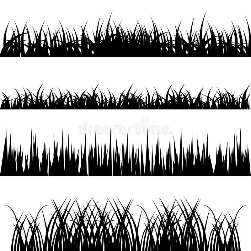 Grass vector set. Vector set of 4 different grass
