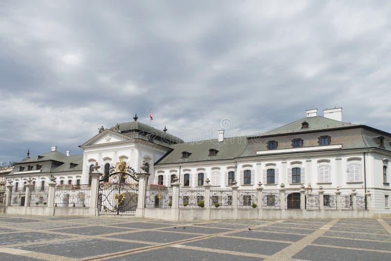 Grassalkovich宫殿在布拉索夫,斯洛伐克 图库摄影