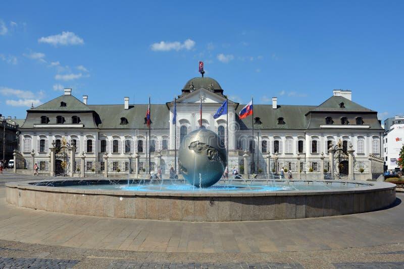Grassalkovich宫殿在布拉索夫-斯洛伐克 免版税图库摄影