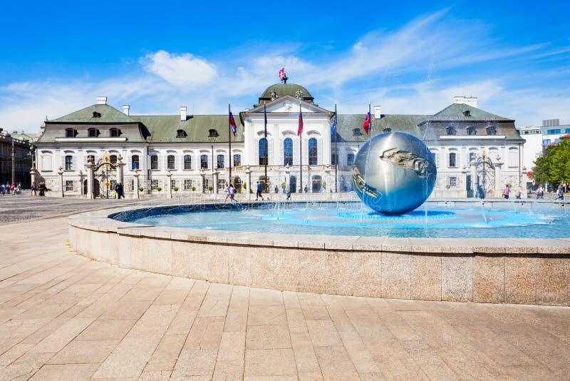 Grassalkovich宫殿在布拉索夫 免版税库存照片