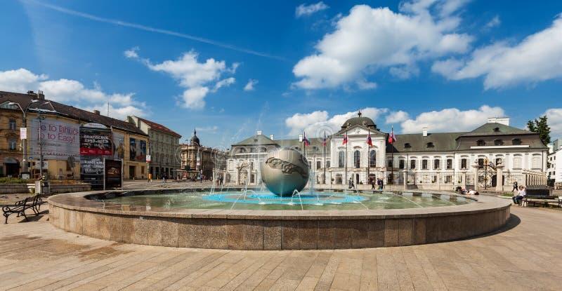 Grassalkovich宫殿在布拉索夫,斯洛伐克 免版税库存图片