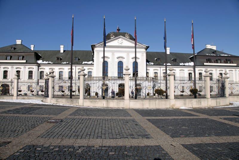 Grassalkovich宫殿在布拉索夫,主持的住所 图库摄影