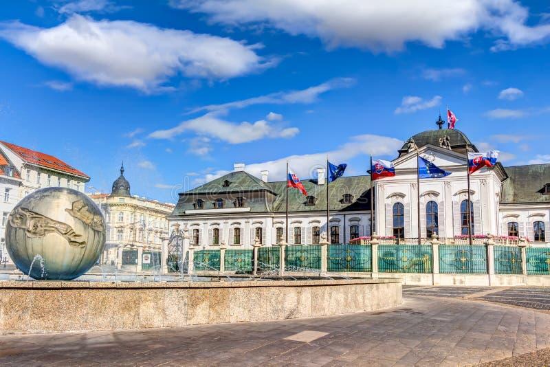Grassalkovich宫殿布拉索夫 免版税图库摄影