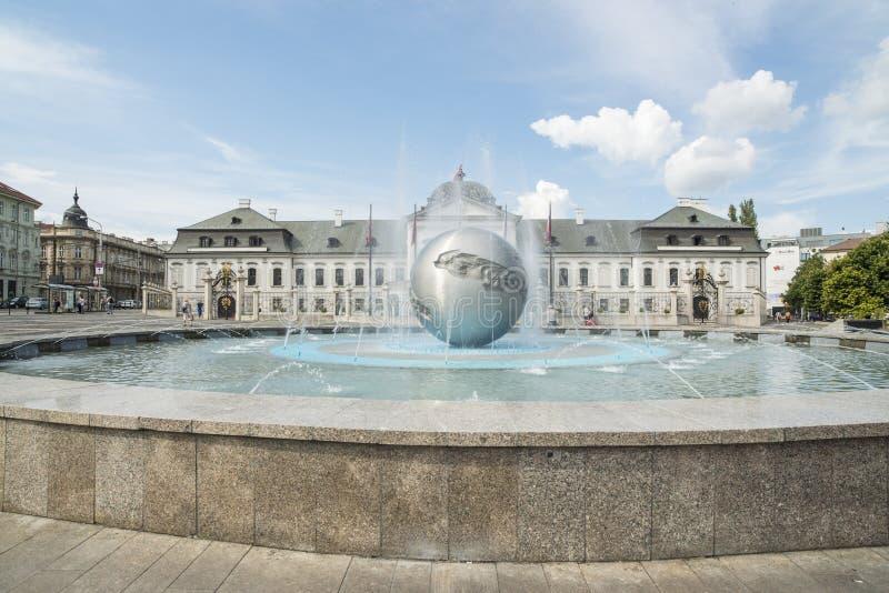 Grassalkovich宫殿布拉索夫斯洛伐克欧洲 图库摄影