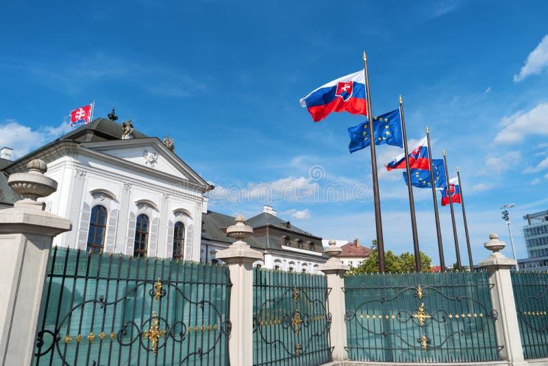 Grassalkovich宫殿,布拉索夫,斯洛伐克,欧洲 免版税库存图片