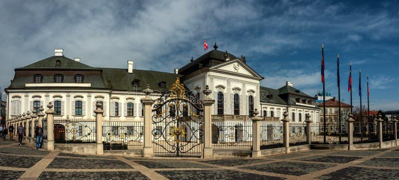Grassalkovich宫殿,布拉索夫,斯洛伐克 库存图片