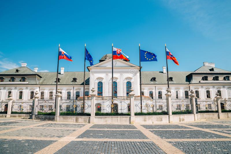 Grassalkovich Palace, residence of the president in Bratislava, Slovakia. Europe stock image