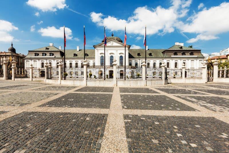 Grassalkovichpaleis in Bratislava, Slowakije royalty-vrije stock foto