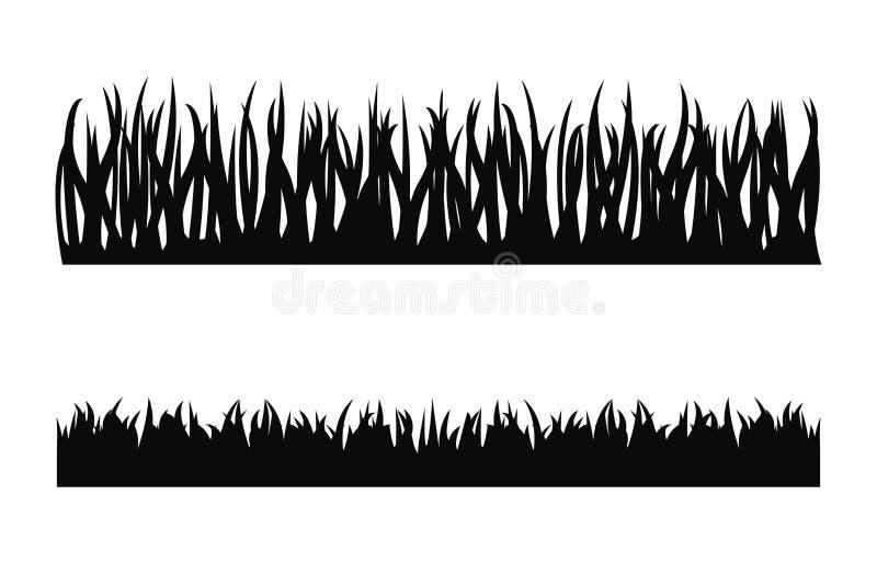 Grasschattenbildvektor stock abbildung