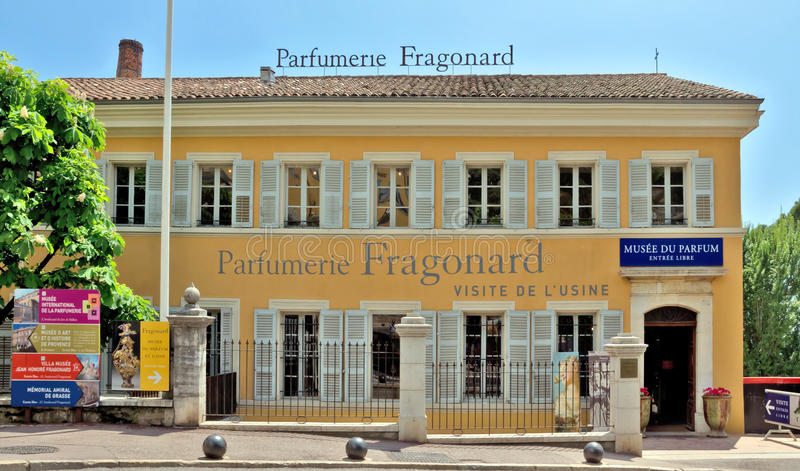 Grasse - Parfumerie Fragonard fabrik royaltyfri bild