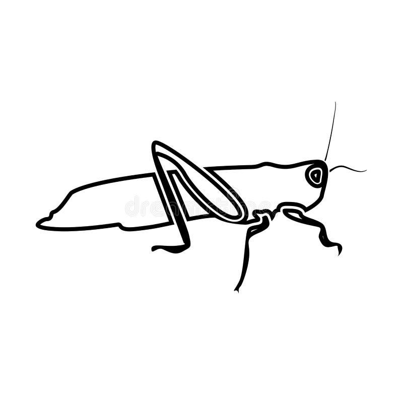 Grasshoper black color icon . Grasshoper it is black color icon vector illustration