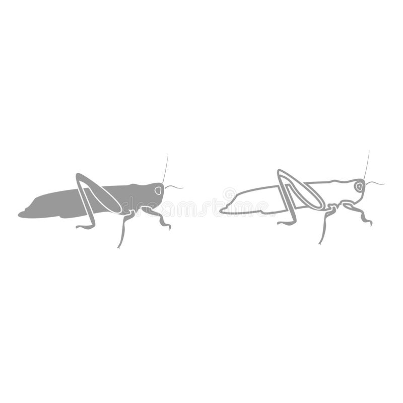 Grasshoper it is black icon . Simple style royalty free illustration