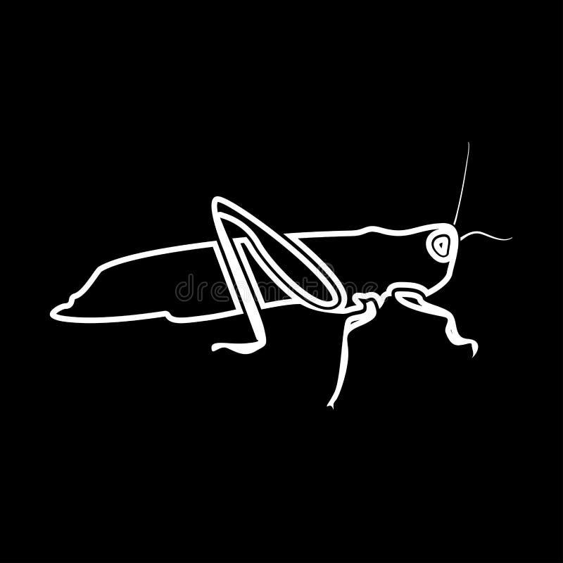 Grasshoper it is icon . Flat style vector illustration