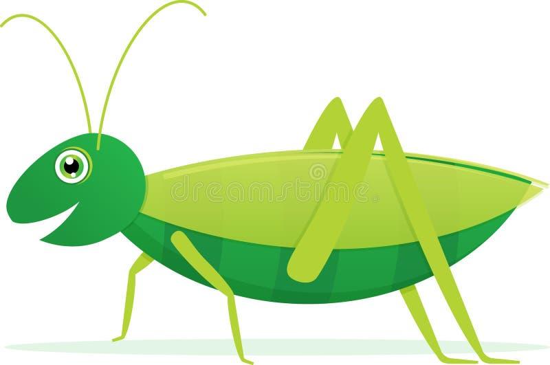 Grasshopper. Cute Cartoon Vector Grasshopper on a white background stock illustration