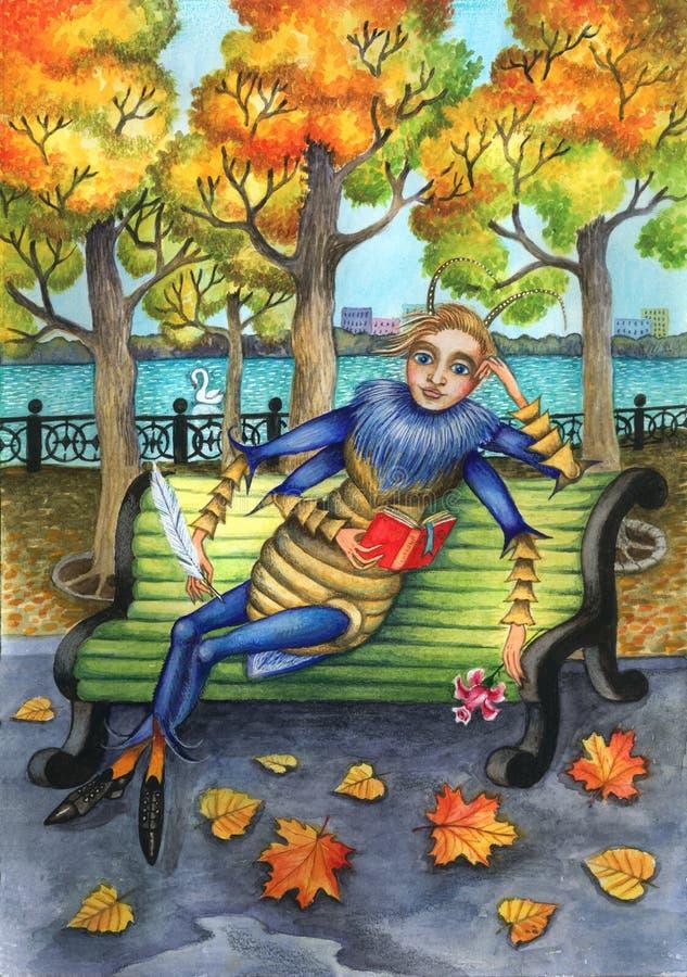 Download Grasshopper stock illustration. Illustration of postcard - 9978750