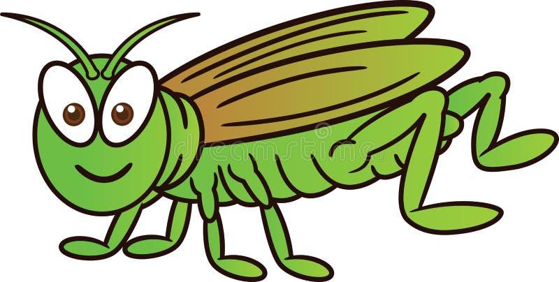 Grasshopper Cartoon. Animal Character. Vector Illustration Isolated on White royalty free illustration