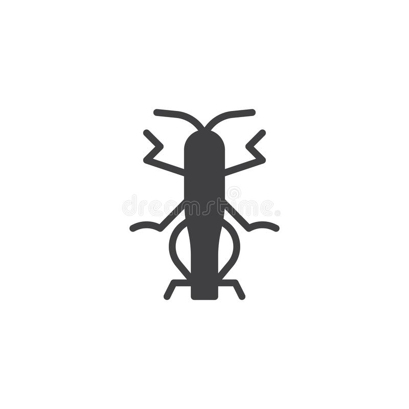 Grasshopper insect icon vector. Filled flat sign, solid pictogram isolated on white. Locust symbol, logo illustration royalty free illustration