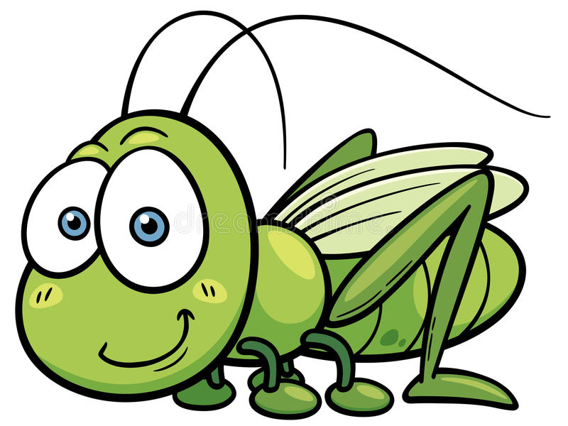 Grasshopper. Vector illustration of cartoon Grasshopper stock illustration