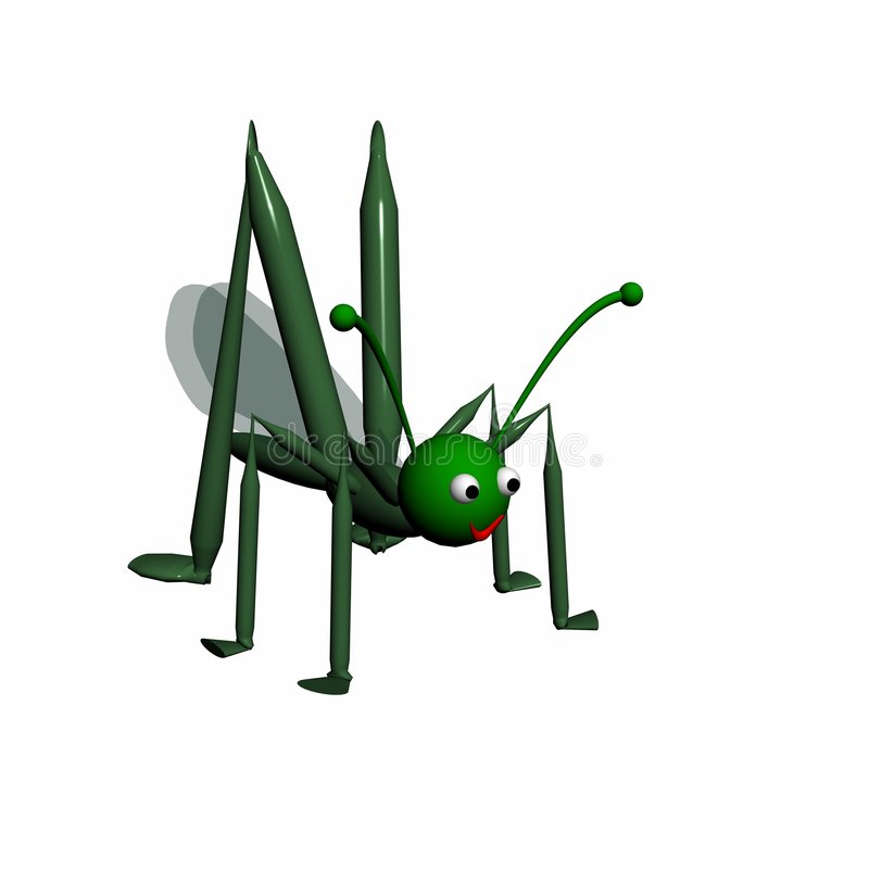 Download Grasshopper On A White Background. Stock Illustration - Image: 4472515
