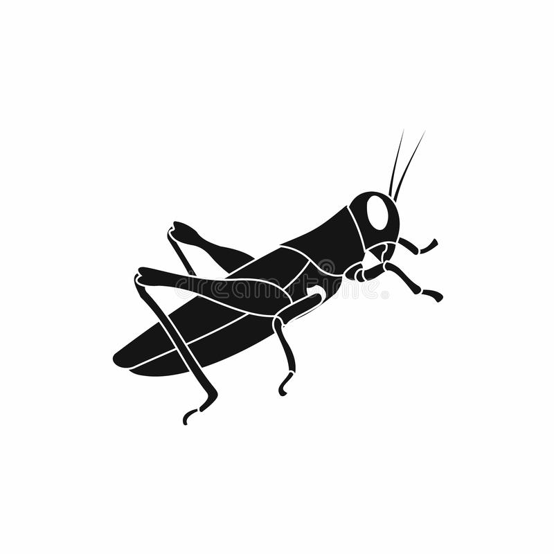 Grasshoppers icon in simple style. On a white background stock illustration