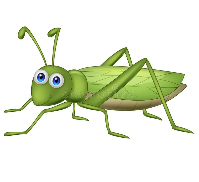 Grasshoppher-Karikatur vektor abbildung