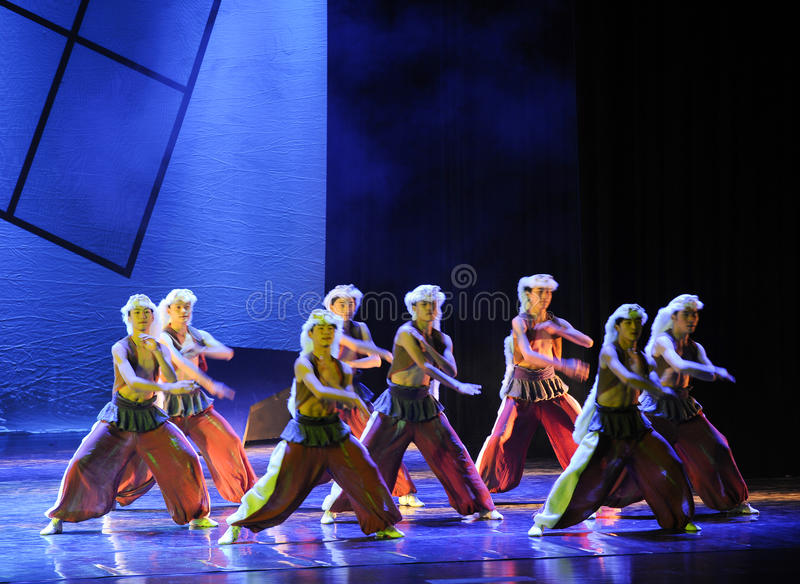 Grassland man-The dance drama The legend of the Condor Heroes royalty free stock photos