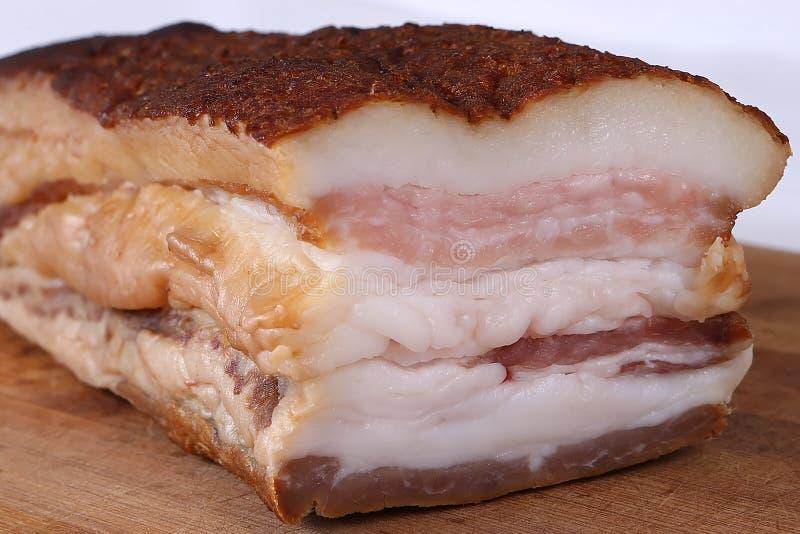 Grasso affumicato della carne di maiale fotografia stock