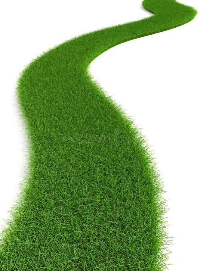 Download Grassy road stock illustration. Image of grassy, landscape - 6433380
