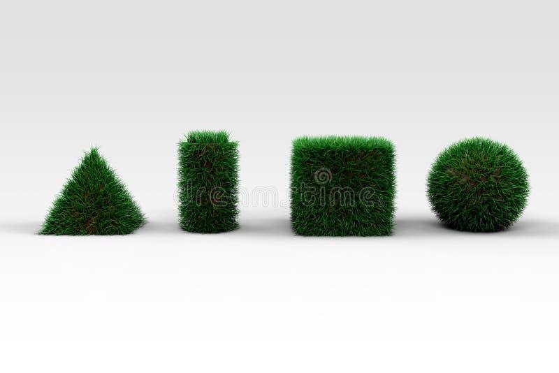 Grassy Shapes royalty free stock photo
