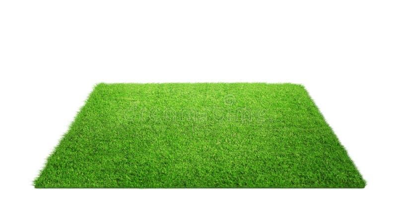 Grasteppich lokalisiert auf Weiß lizenzfreie stockbilder