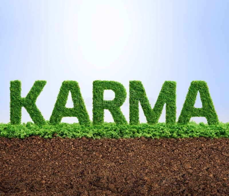 Graswachstums-Karmakonzept lizenzfreie stockfotos