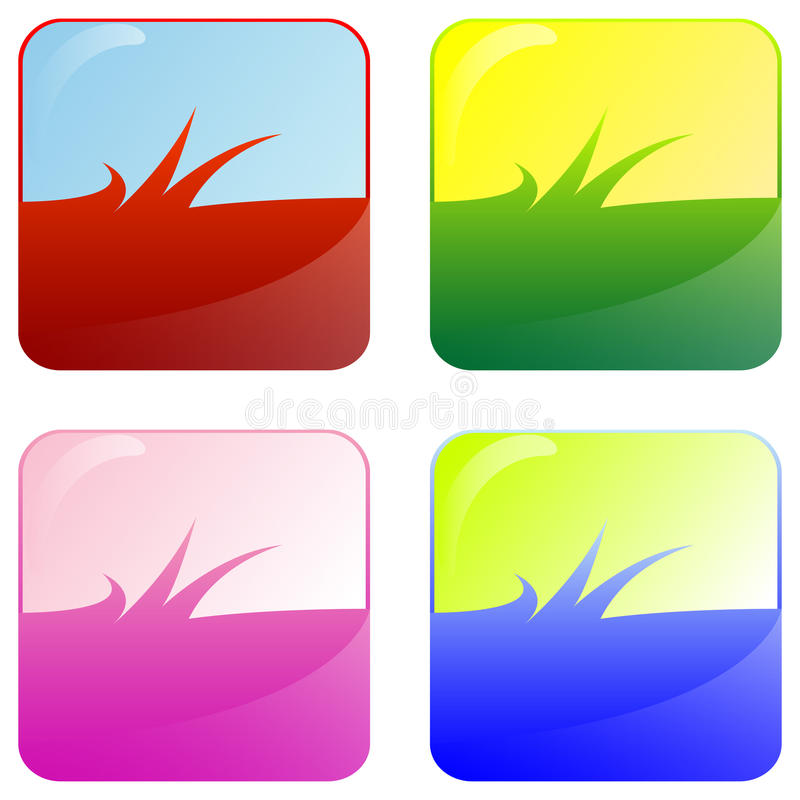 Grasweb-Tasten lizenzfreie abbildung