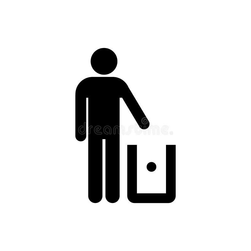 Grat kosz pakuje symbolu mieszkania stylu prostą ikonę odizolowywającą ilustracja wektor