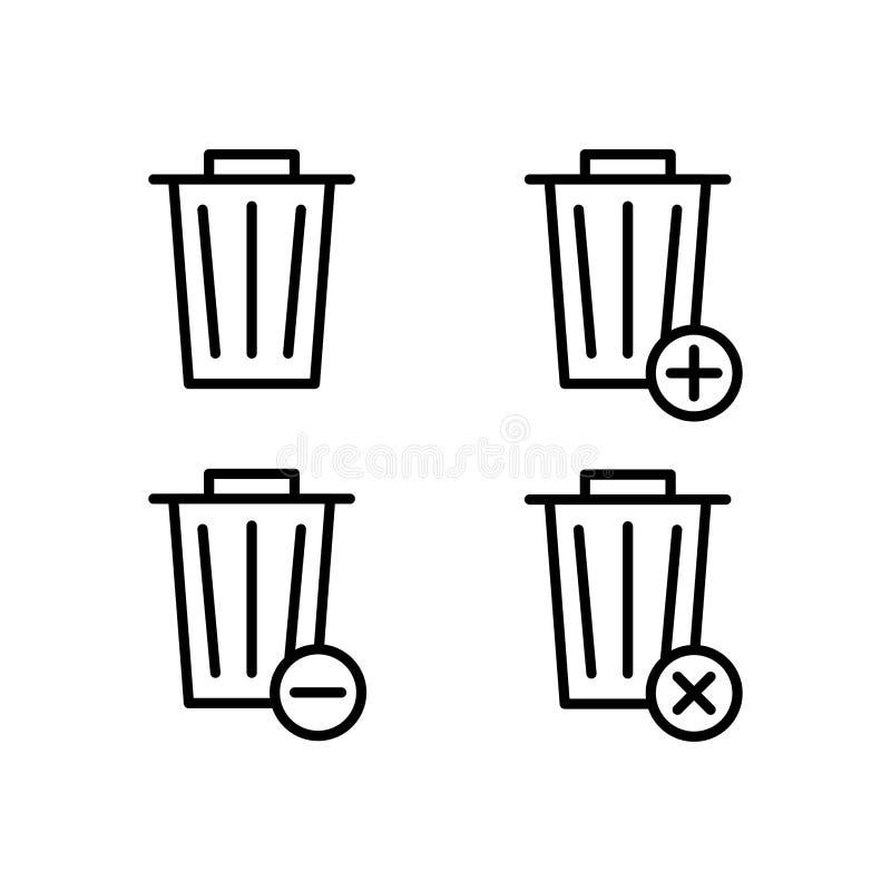 grat, pudełko, plus, usuwa, minus znak ikony Element konturu guzika ikony Cienka kreskowa ikona dla strona internetowa rozwoju i  ilustracja wektor
