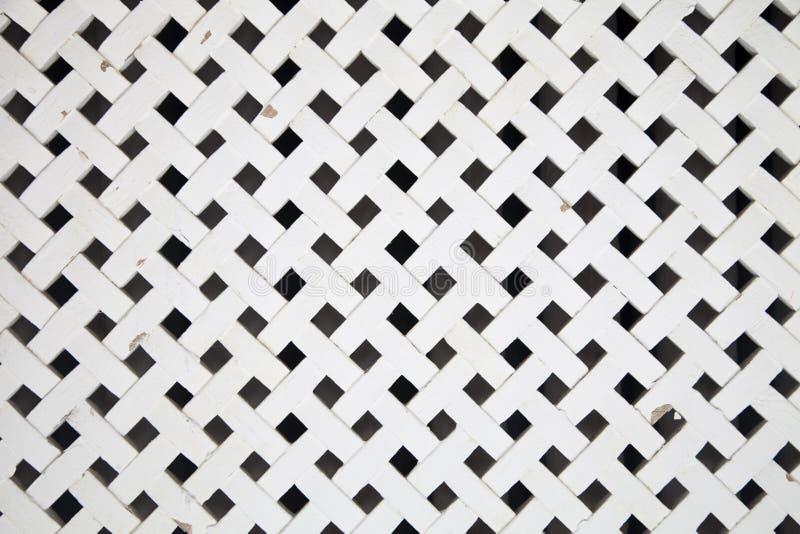 Grata di legno bianca fotografia stock libera da diritti