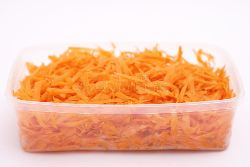 Grated carrot royalty free stock images