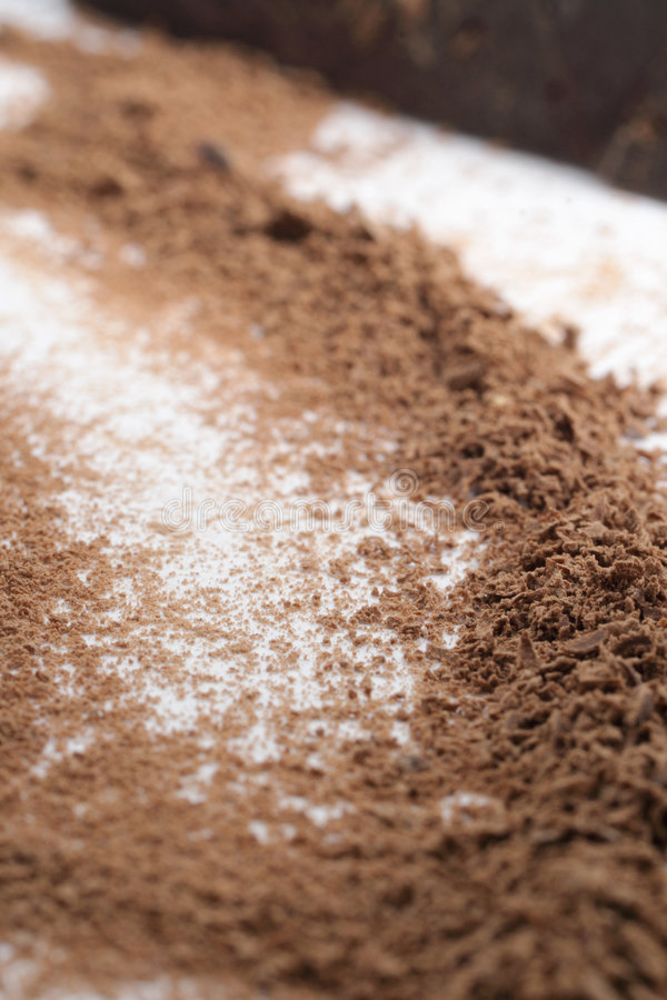 Grated chocolate royalty free stock images