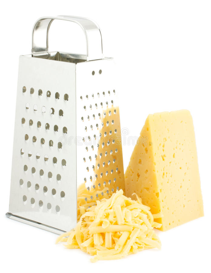 Grater e queijo imagens de stock royalty free