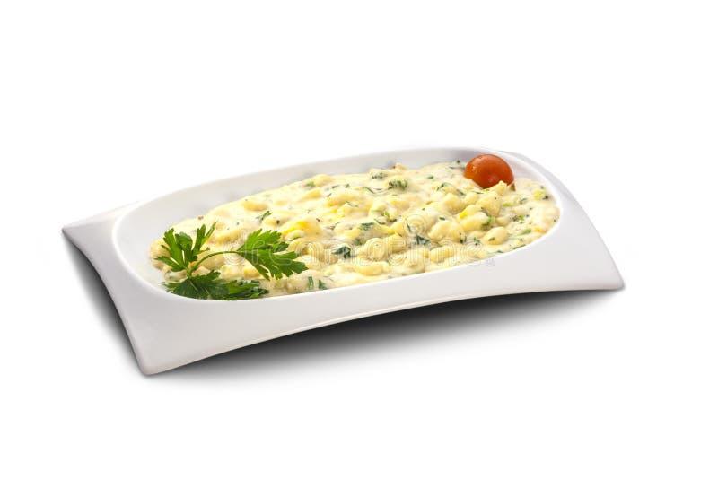 Gratin картошки с сливк и сыром стоковые фото