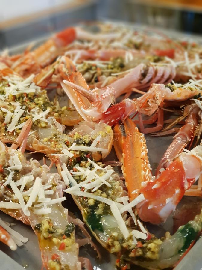 Gratin das lagostas fotografia de stock royalty free