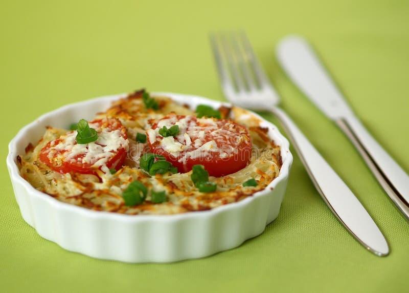 Gratin do au do espaguete fotos de stock royalty free