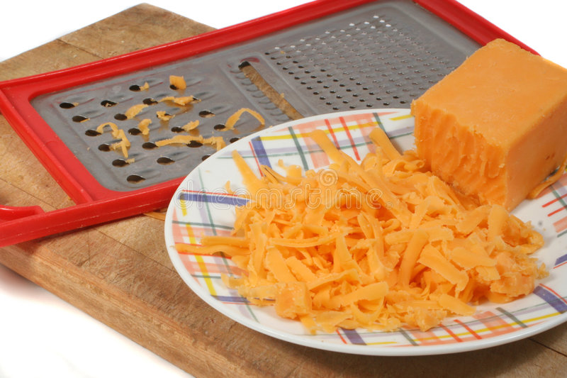 Grating cheese stock image