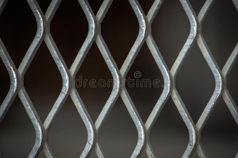 Grating de aço para o fundo e a textura fotografia de stock royalty free