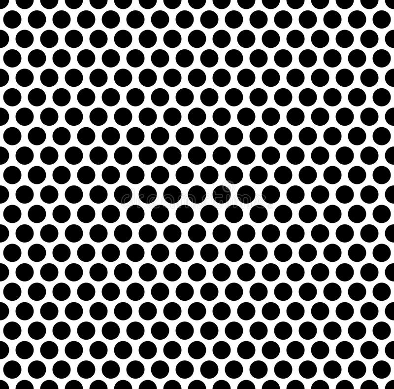 Grating pattern with grid, mesh of circles. Repeatable. stock illustration