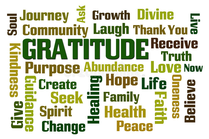 Gratitude illustration stock