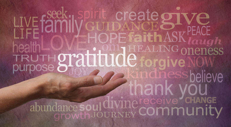 Gratitude Attitude royalty free stock photos