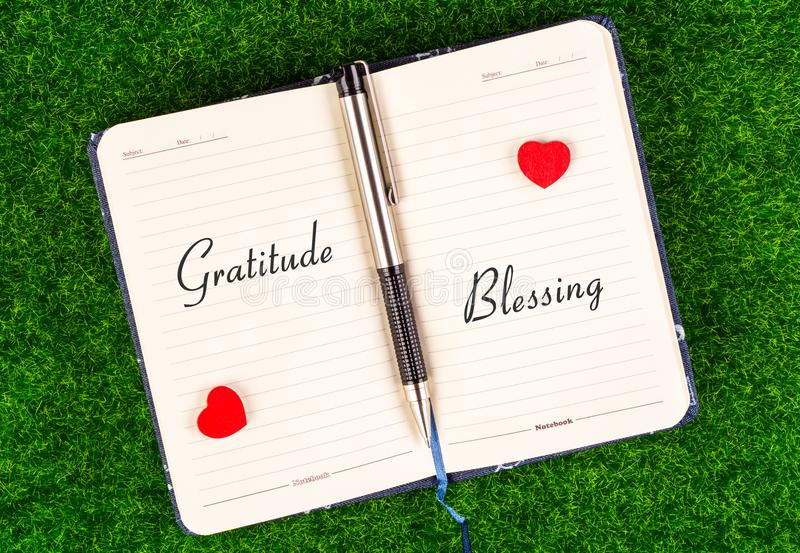Gratitude equal Blessing stock photo
