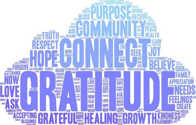 Gratitude Word Cloud royalty free illustration