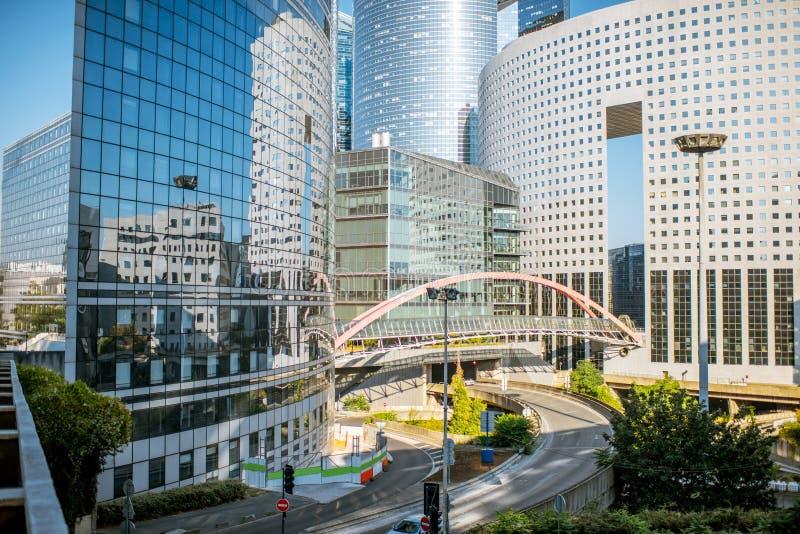 Grattacieli al distretto finanziario della città di Parigi immagini stock libere da diritti