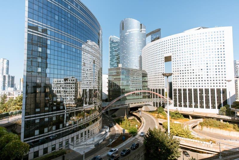 Grattacieli al distretto finanziario della città di Parigi immagine stock libera da diritti
